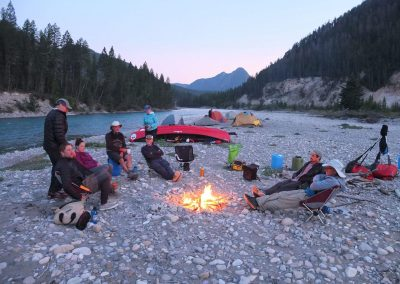 couples retreat camping by the river side